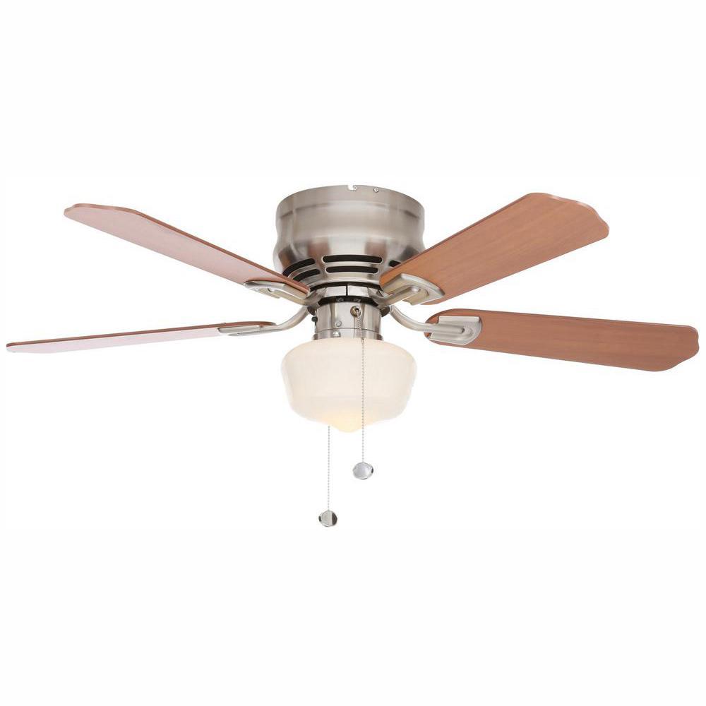 Middleton 42 in. LED Indoor Brushed Nickel Ceiling Fan with Light Kit