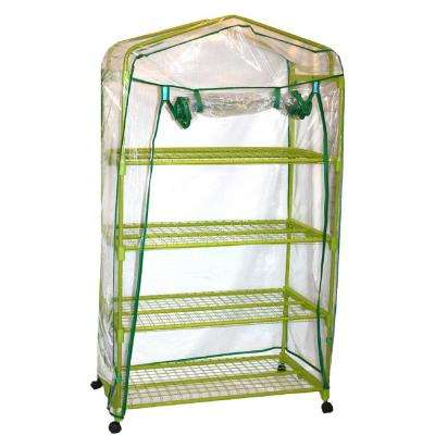 35.5 in. W x 19 in. D x 64 in. H Garden Greenhouse