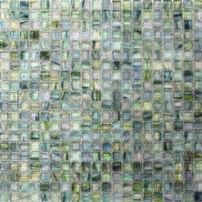 Breeze Green Tea 12-3/4 in. x 12-3/4 in. x 6 mm Glass Mosaic Tile