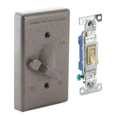 1-Gang Weatherproof Toggle Switch Cover Kit