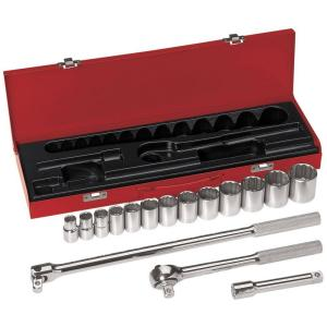 Klein Tools 1/2 inch Drive Socket Wrench Set (16-Piece) by Klein Tools