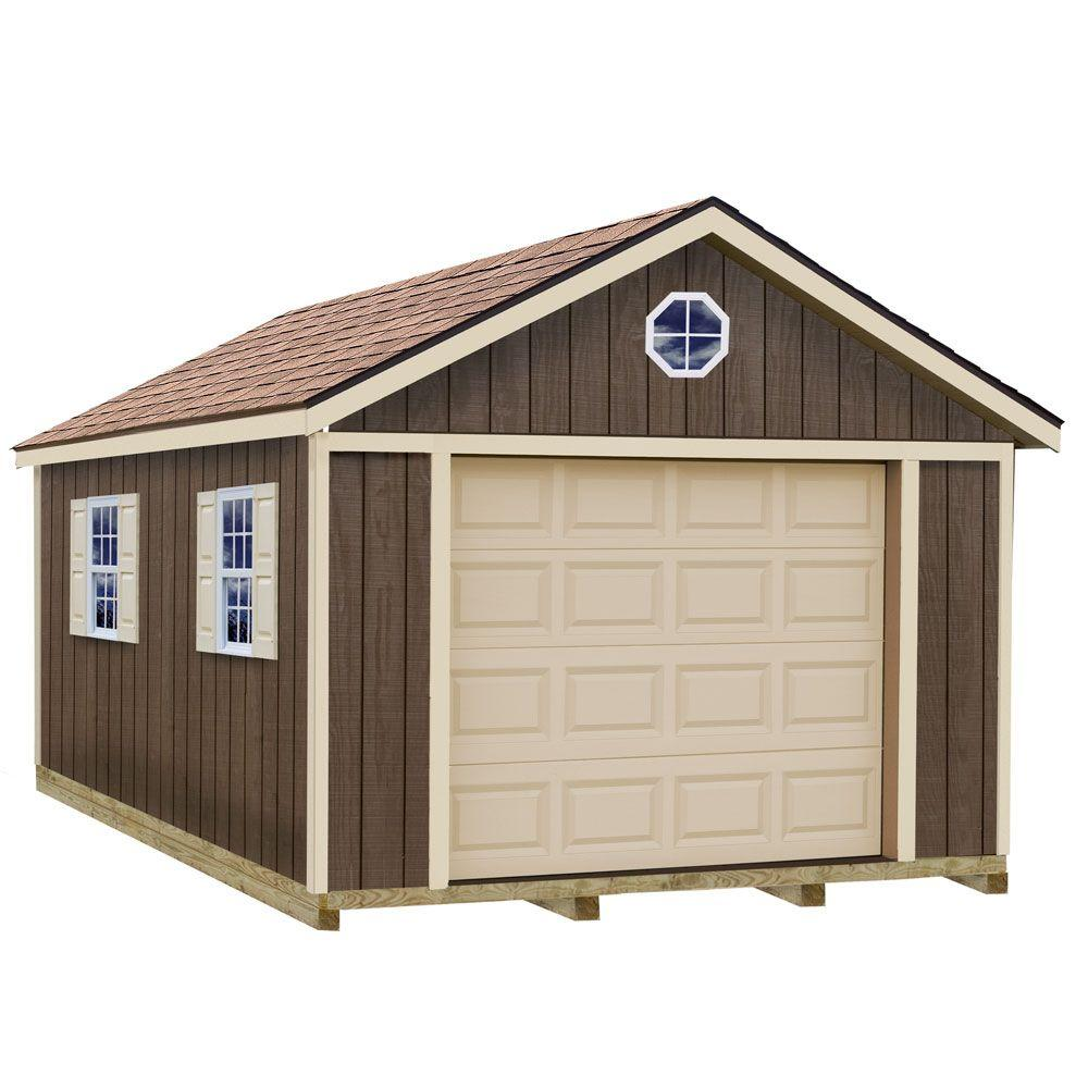 Best barns sierra 12 ft x 16 ft wood garage kit with for Home hardware garage packages cost