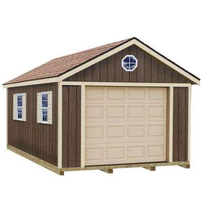 Sierra 12 ft. x 20 ft. Wood Garage Kit with Sturdy Built Floor