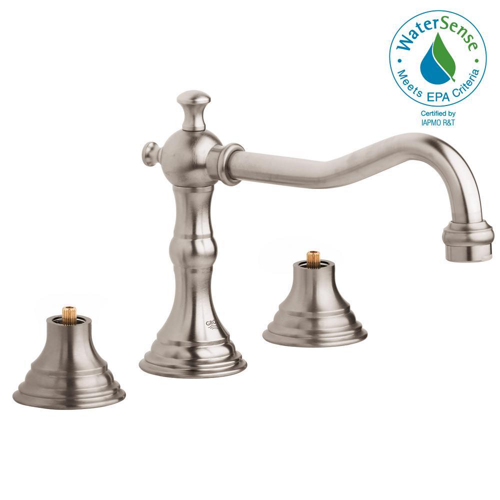 Grohe Bridgeford 8 In Widespread 2 Handle Bathroom Faucet In
