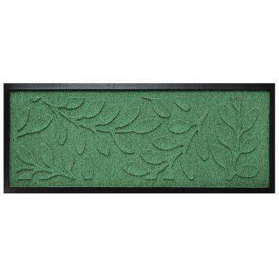 Light Green 15 in. x 36 in. Brittany Leaf Boot Tray