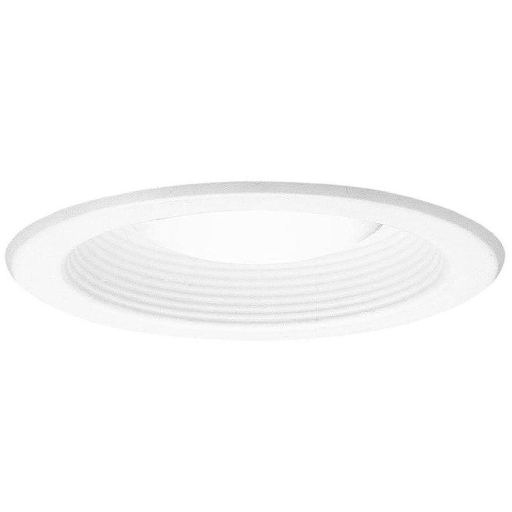 Recessed Lighting Torsion Spring Bracket : Halo series in white recessed ceiling light trim