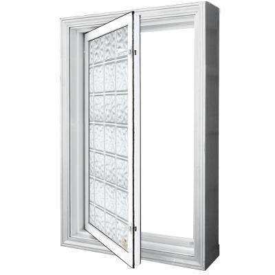 29.25 in. x 29.25 in. Egress Acrylic Vinyl Glass Block Window