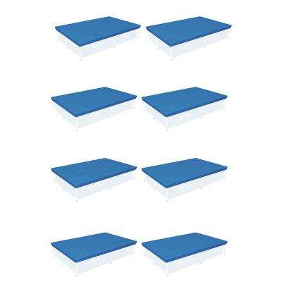 87 in. x 59 in. Rectangle Above Ground Swimming Winter Pool Cover (8-Pack)