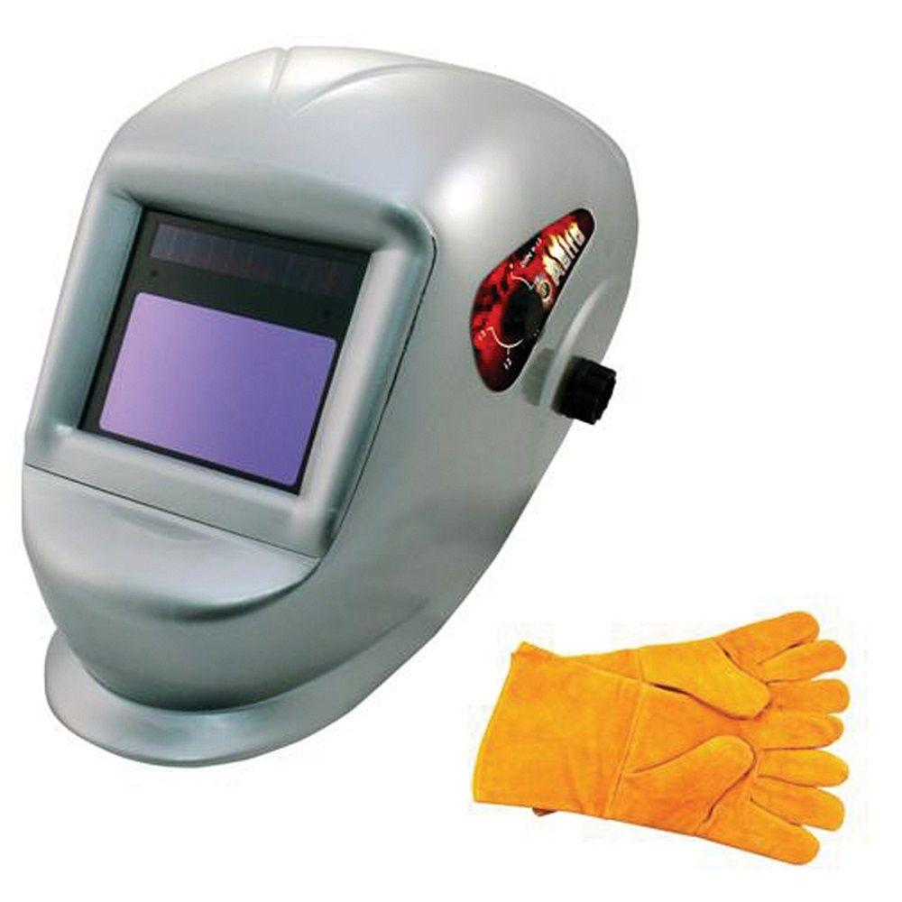 Deluxe Solar Auto Darkening Welding Helmet with Large Viewing Area and
