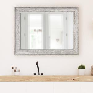Click here to buy  31.5 in x 43.5 inch Brown and Antique White Decorative Mirror.