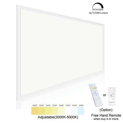 2 ft. x 4 ft. White Commercial Integrated LED 6300 Lumens Dimmable Drop Ceiling Flat Panel Troffer Light (2-Pack)