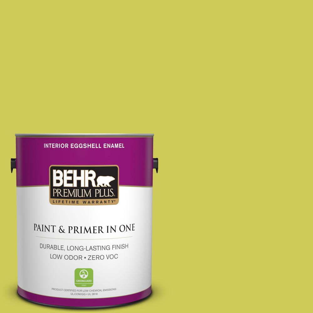 1-gal. #400B-5 Grape Green Zero VOC Eggshell Enamel Interior Paint