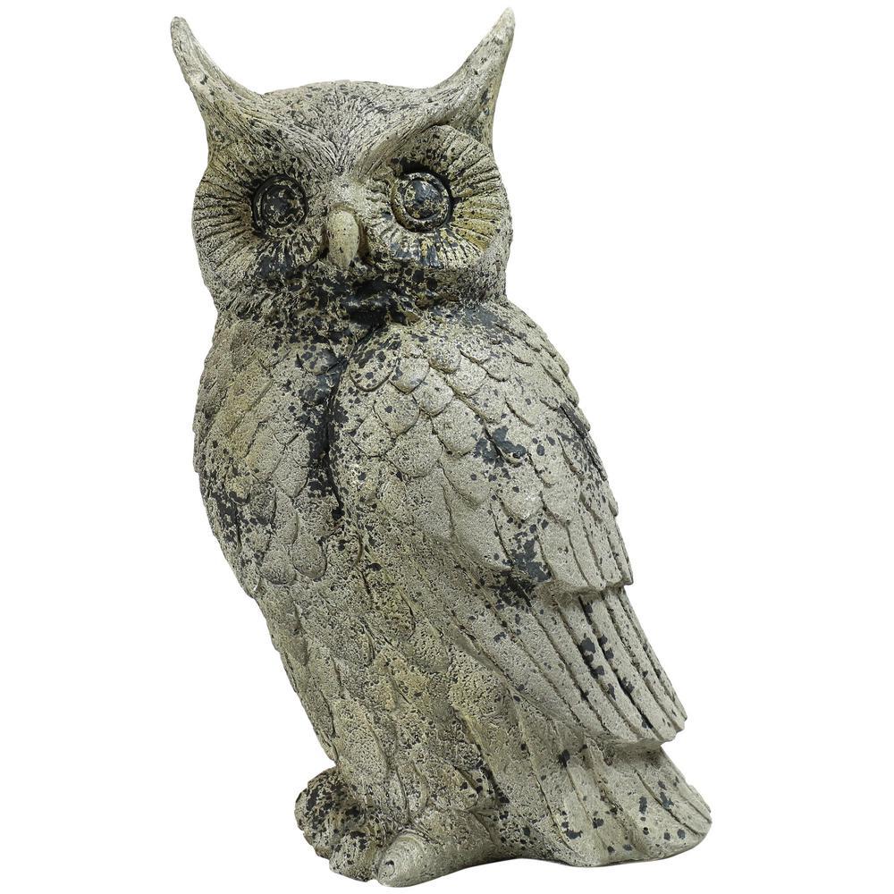 Owl Garden Ornament Owl Garden Statue Owl Garden Sculpture Made Of Resin Gift