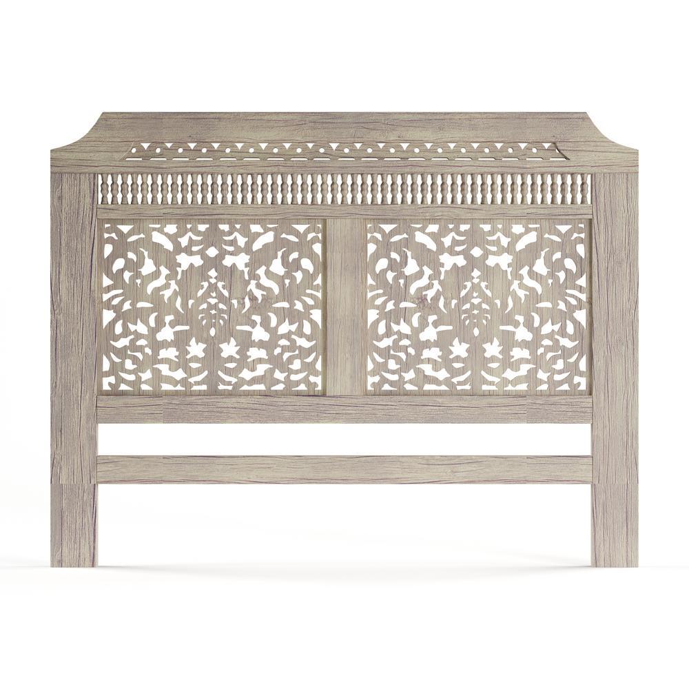 Home Decorators Collection Maharaja Sandblast White King  Headboard 1472410820   The Home Depot