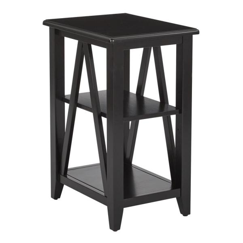 Black Santa Cruz Small Side Table
