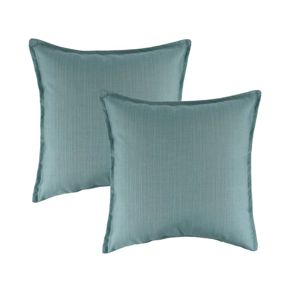 Sunbrella Dupione Celeste 20 in. Outdoor Pillow (set of 2)