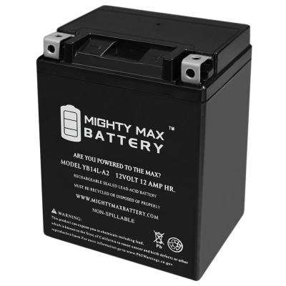 12-Volt 12 Ah 210 CCA Maintenance Free Rechargeable Sealed Lead Acid (SLA) Powersport Battery