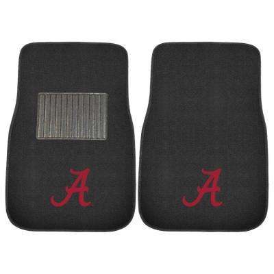 NCAA University of Alabama 2-Piece 17 in. x 25.5 in. Carpet Embroidered Car Mat