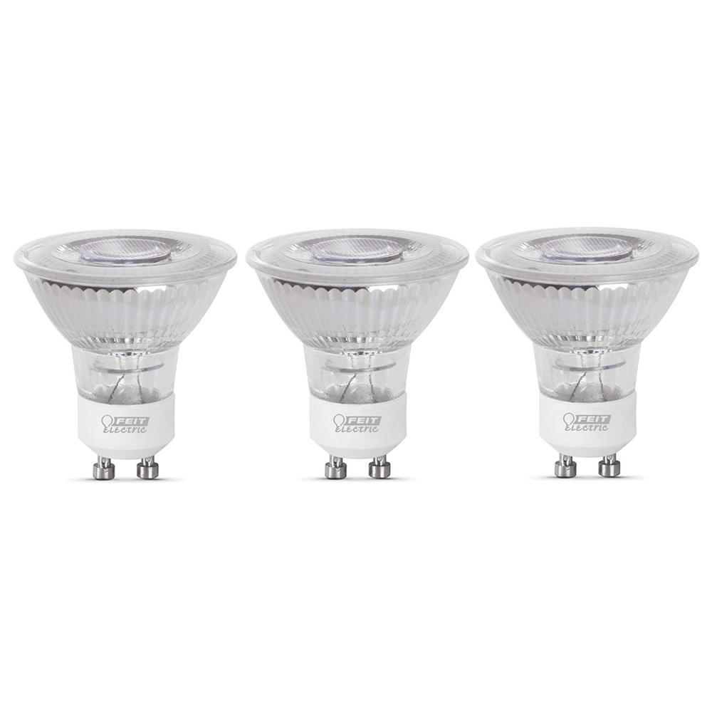 35-Watt Equivalent MR16 GU10 Dimmable CEC Title 20 LED 90+ CRI Flood Light Bulb, Daylight (3-Pack)