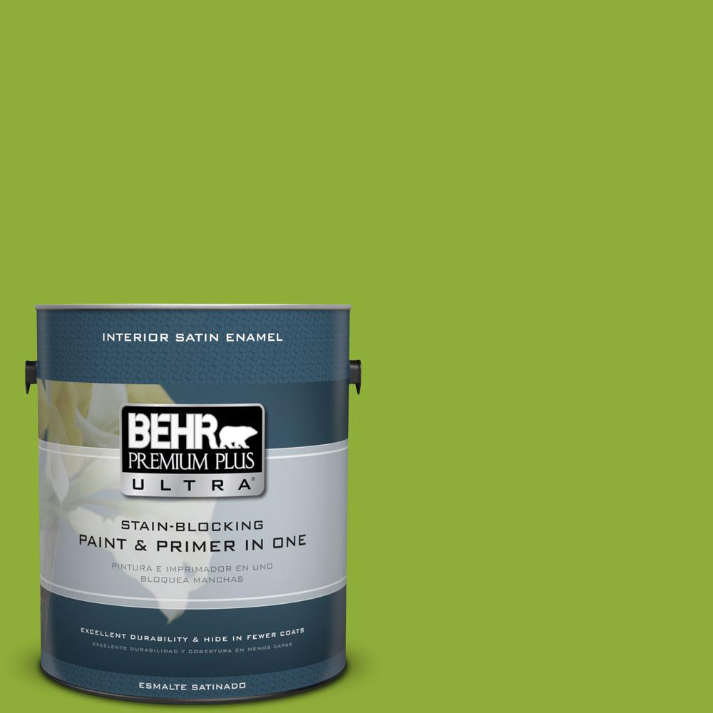 1-gal. #420B-6 New Green Satin Enamel Interior Paint