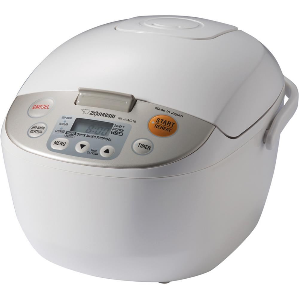 Zojirushi Micom Rice Cooker and Warmer White 10 Cup Japan...