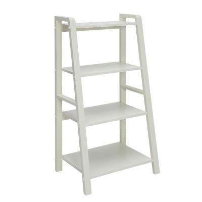 Charles Polar White Small Office Bookcase
