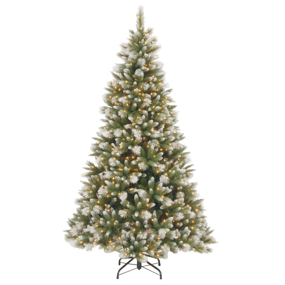 National Tree Company 7-1/2 ft. Feel Real Frosted Alaskan ...