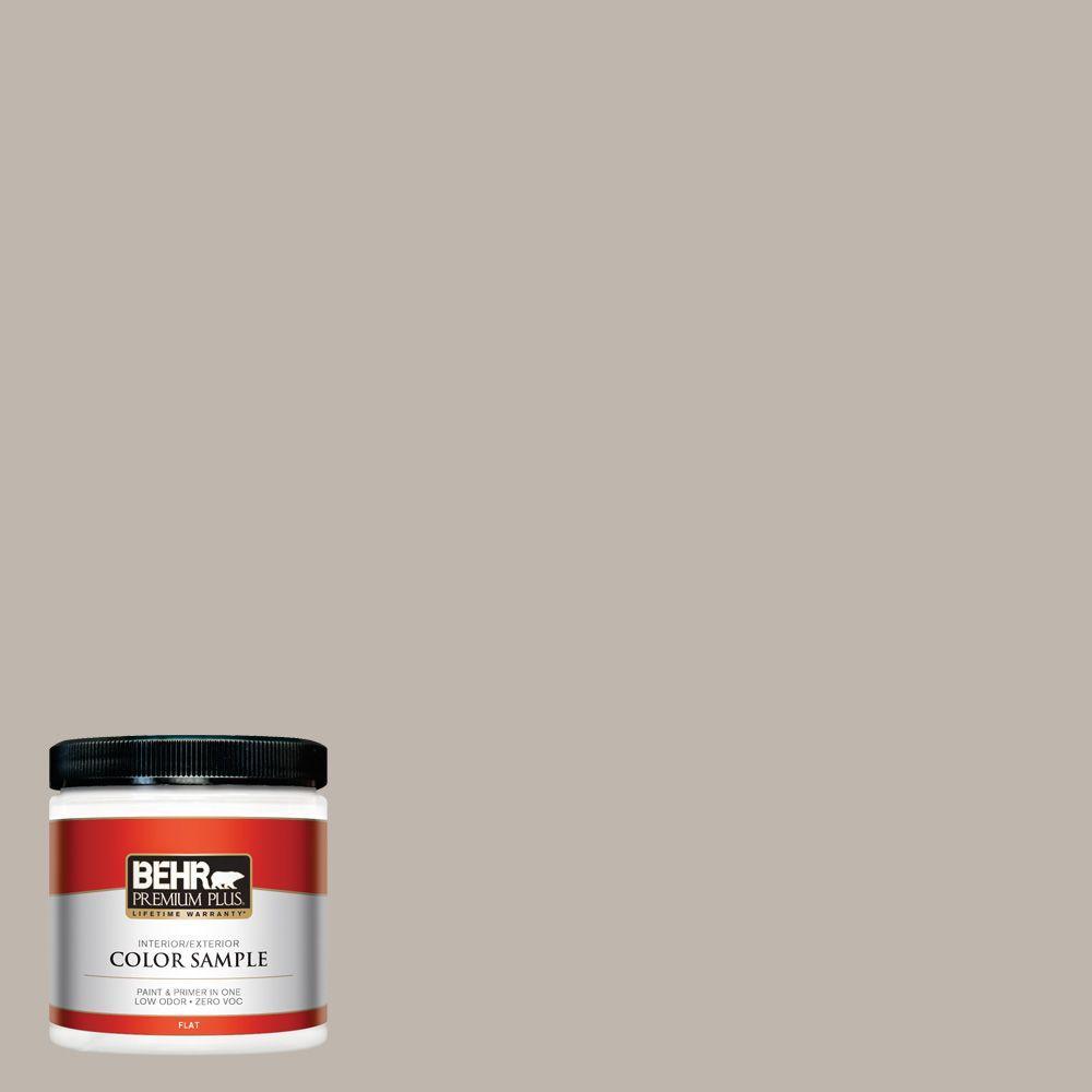 BEHR Premium Plus Home Decorators Collection 8 oz. #HDC-CT-21 Grey Mist Zero VOC Interior/Exterior Paint Sample