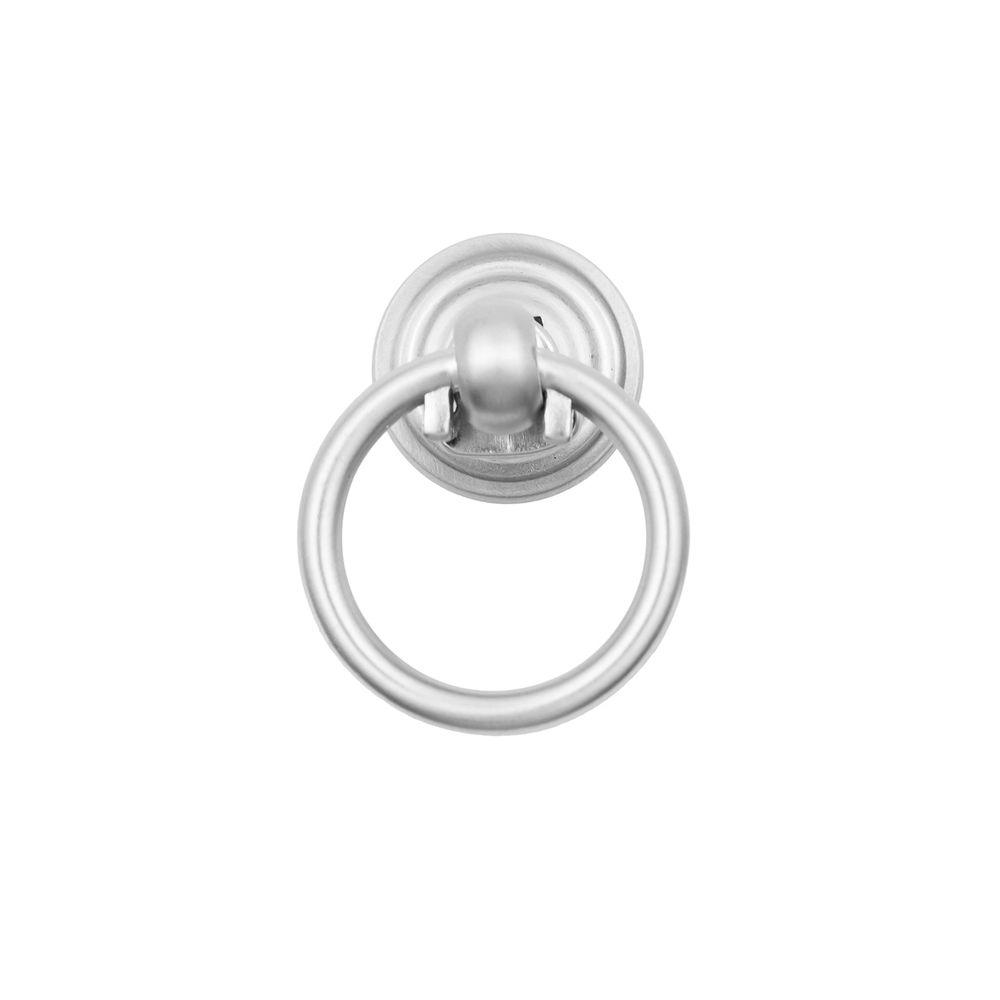 Small 1-1/2 in. Satin Nickel Ring Pull