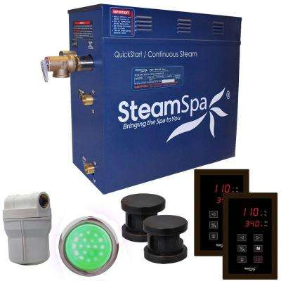 Royal 12kW QuickStart Steam Bath Generator Package in Polished Oil Rubbed Bronze