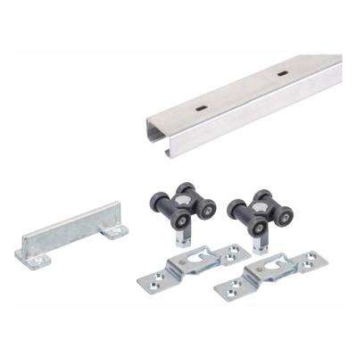 96 in. Grant 150E Single Economy Door Hardware and Track