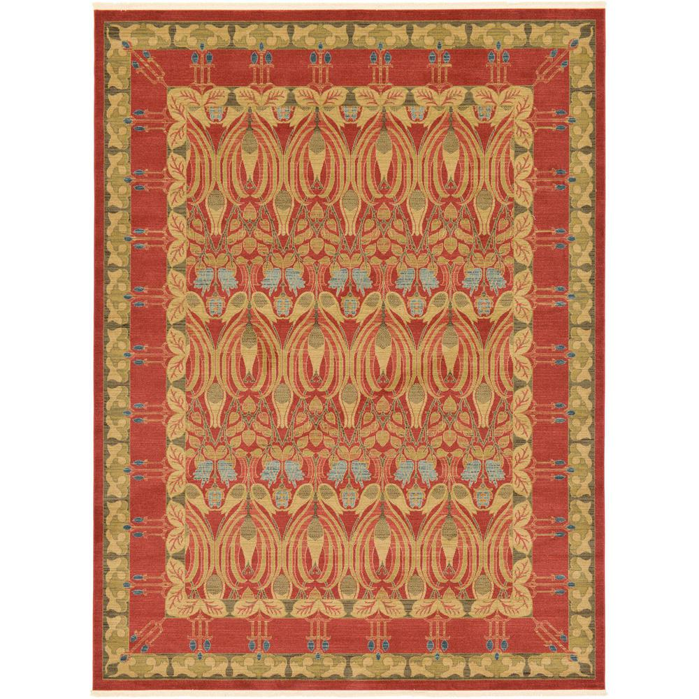 unique loom heritage red 9 ft x 12 ft area rug 3123291 the home depot. Black Bedroom Furniture Sets. Home Design Ideas