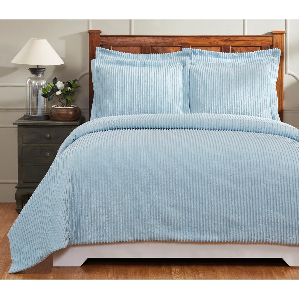 Julian 90 in. X 90 in.  Blue Full/Queen Comforter with 20 in. X 26 in. 2-Standard Sham
