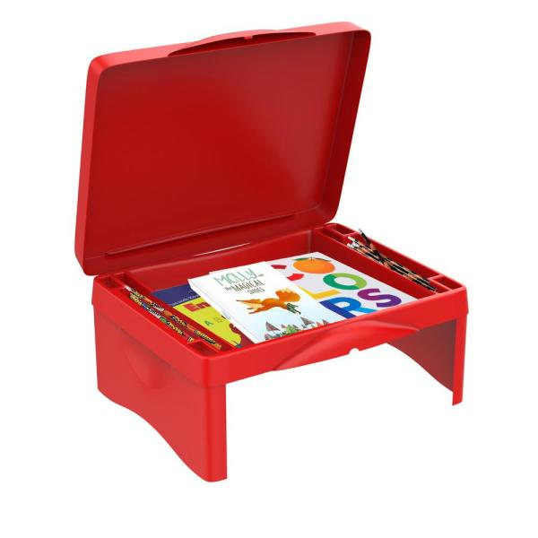 Hey! Play! Red Kids Activity Lap Desk with Storage