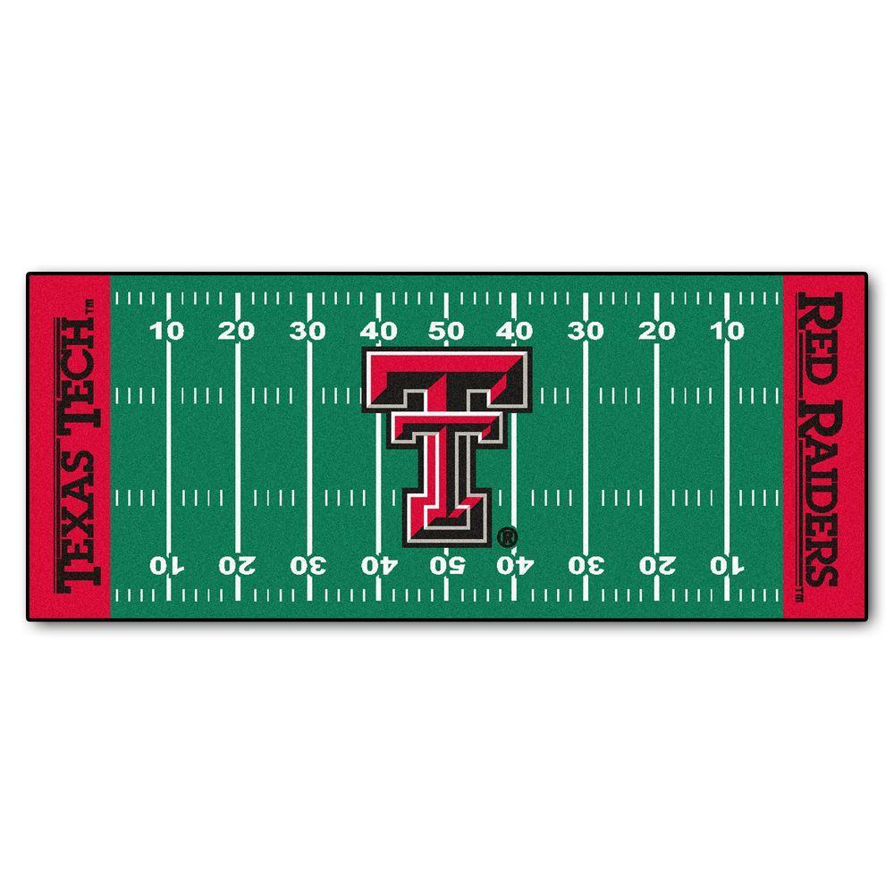 Texas Tech University 3 ft. x 6 ft. Football Field Rug Runner Rug