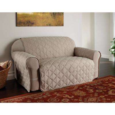 Natural Microfiber Solid Ultimate Loveseat Protector