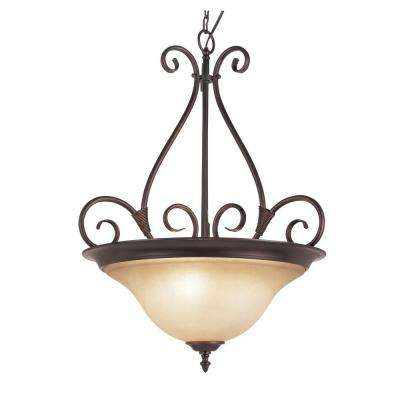 3-Light Bronze Interior Pendant