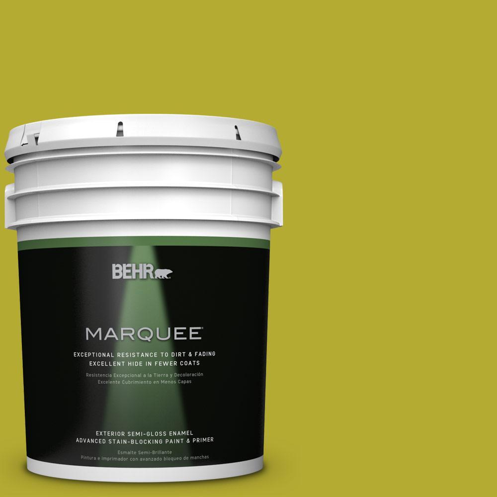 BEHR MARQUEE 5-gal. #P340-6 Green Neon Semi-Gloss Enamel Exterior Paint