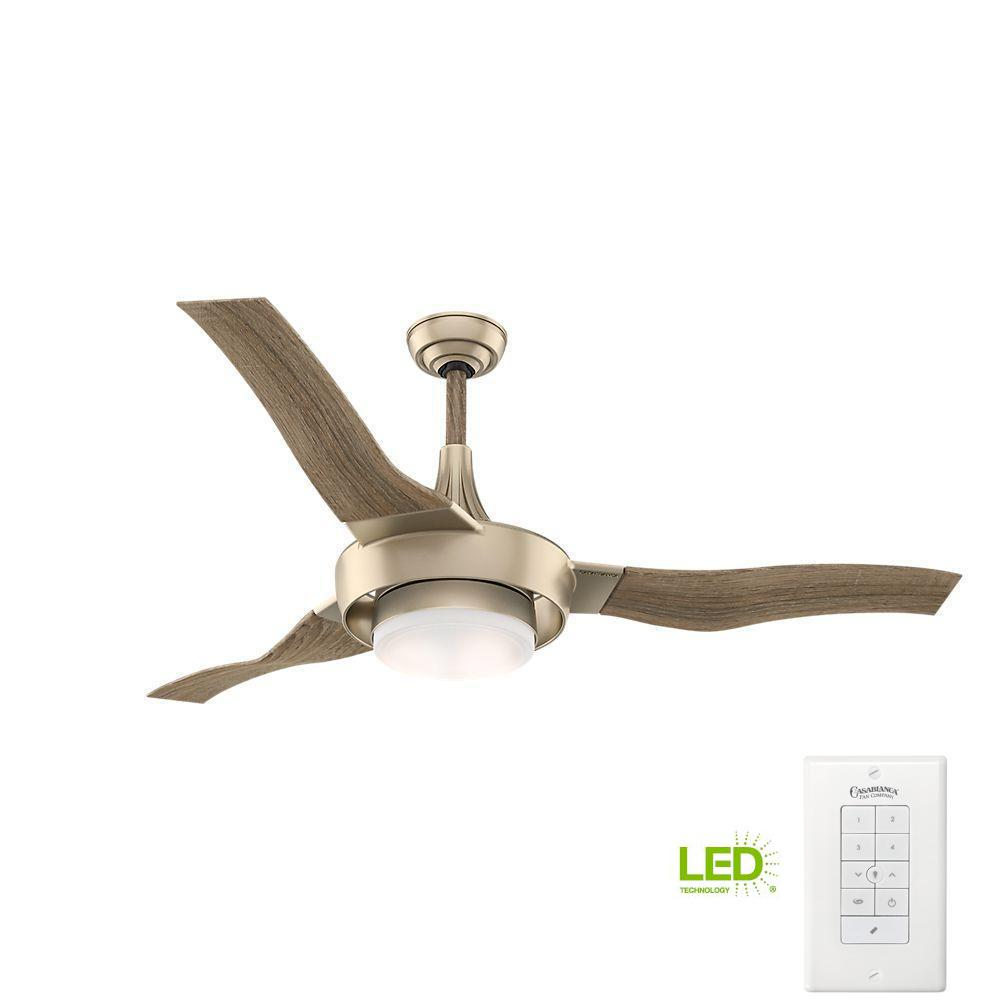 Ge Phantom 54 In Brushed Nickel Indoor Led Ceiling Fan With Remote Wires And Wiring A Without Light Free Download Outdoor Metallic Sunsand