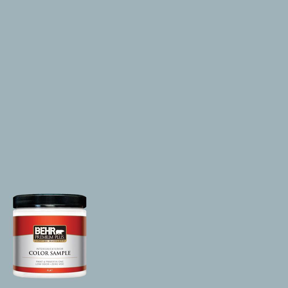 BEHR Premium Plus 8 oz. #540E-3 Blue Fox Interior/Exterior Paint Sample