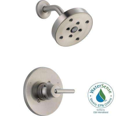 Trinsic 1-Handle Wall Mount Shower Faucet Trim Kit in Stainless with H2Okinetic (Valve Not Included)