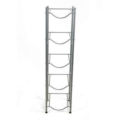 53.15 in. H x 13.39 in. W x 13.39 in. L 5-Tier Metal Water Cooler Jug Rack in Silver