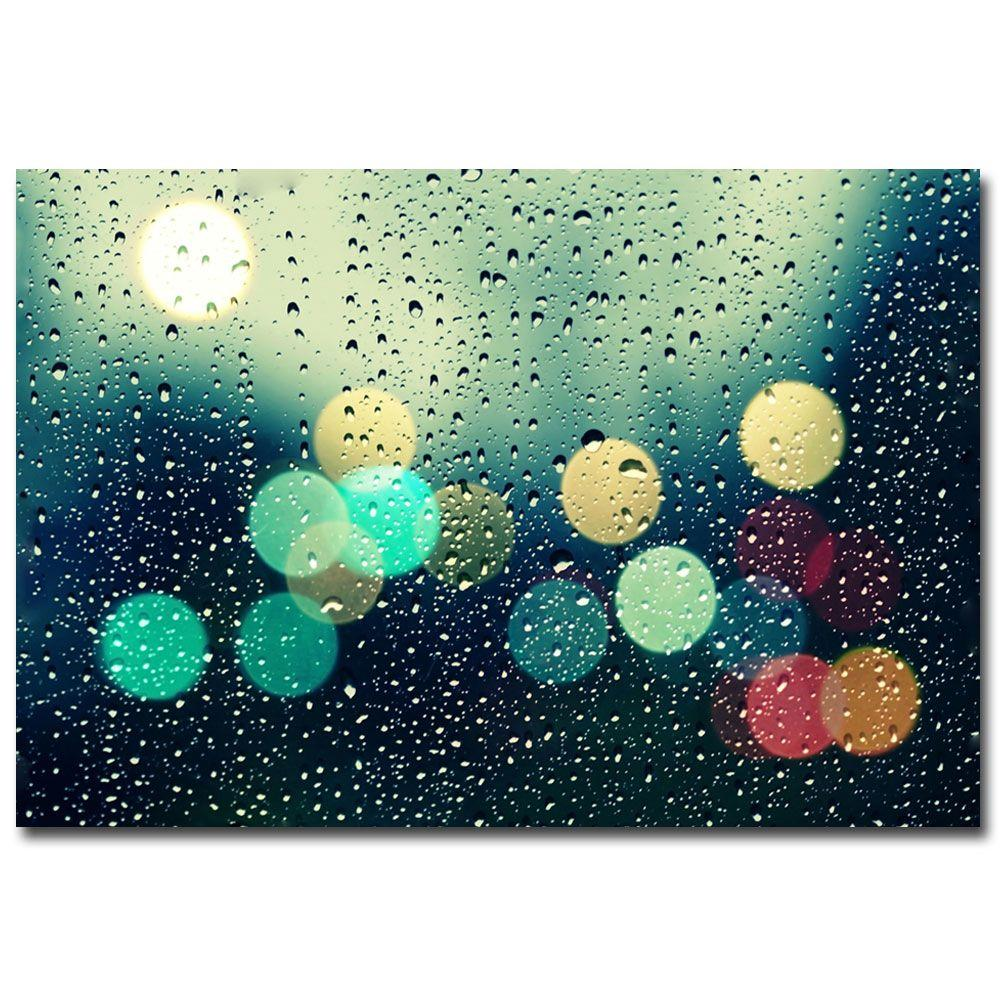 Trademark Fine Art 30 in. x 47 in. Rainy City Canvas Art