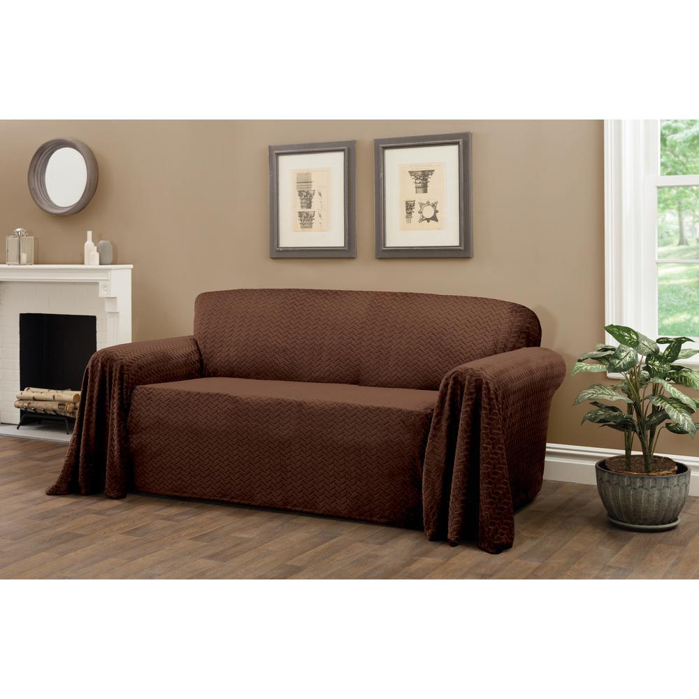 Mason Chocolate Furniture Throw Sofa Slipcover