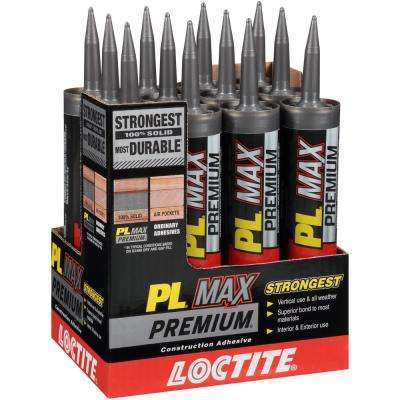 PL Premium MAX 9 fl. oz. Construction Adhesive (12-Pack)