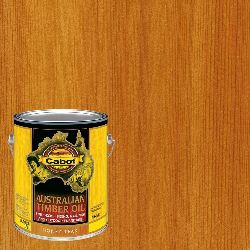 1 gal. Honey Teak Australian Timber Oil Exterior Wood Finish