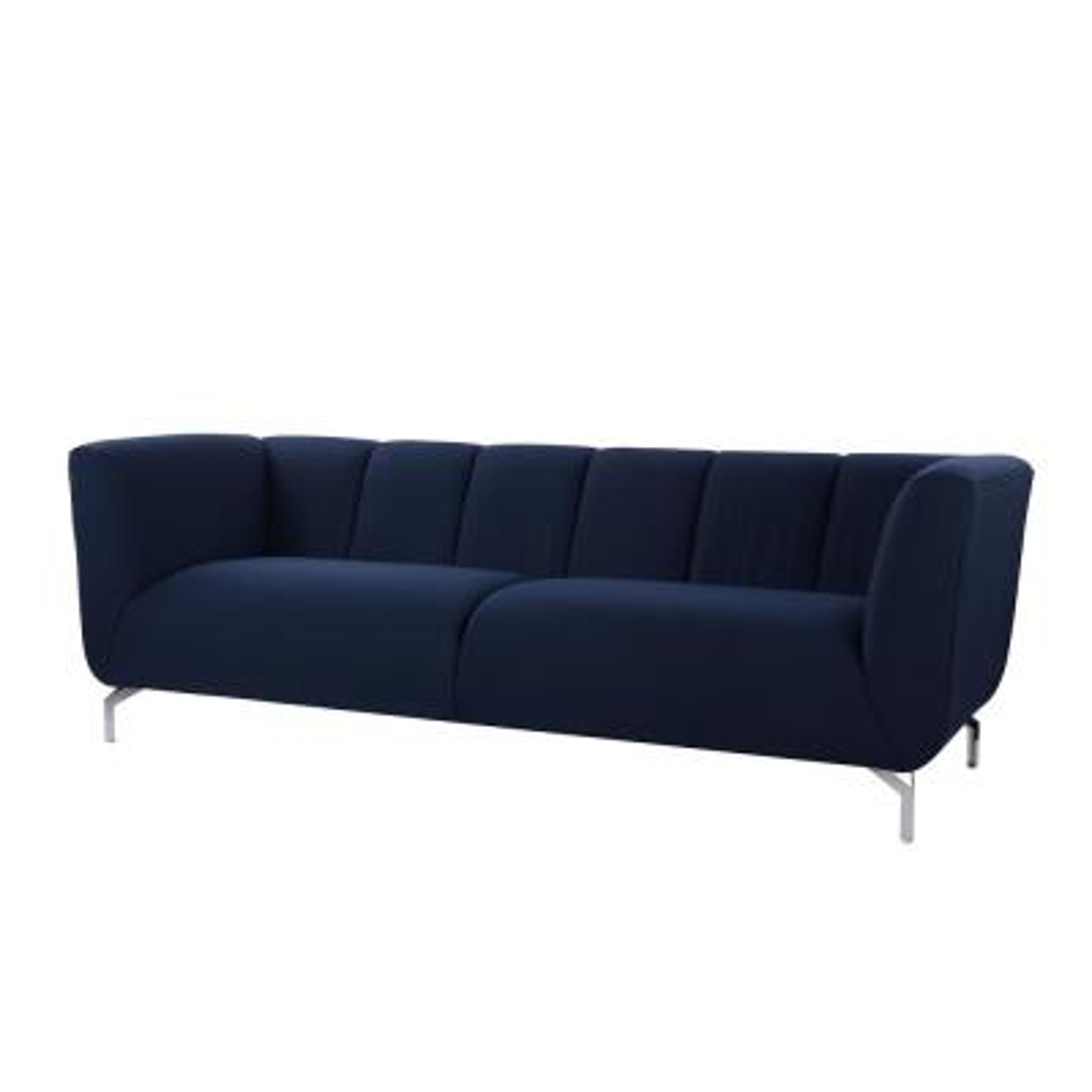 Abella Midnight Blue Modern Contemporary Sofa