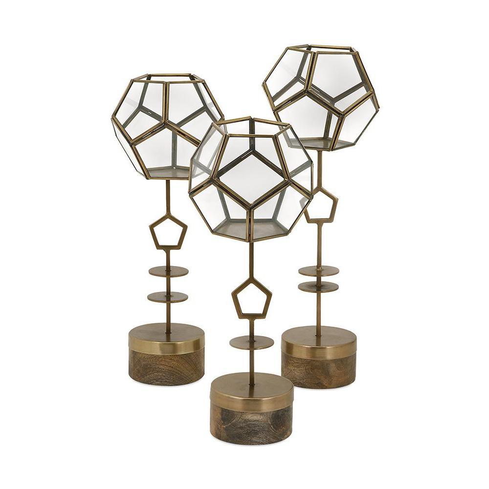 Jada Gold Terrarium Stands (Set of 3)