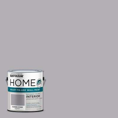 1 Gal. Eggshell Summer Storm Interior Wall Paint (2-Pack)