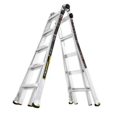 22 ft. MPX Aluminum Telescoping Multi-Position Ladder with 375 lb. Load Capacity Type IAA Duty Rating